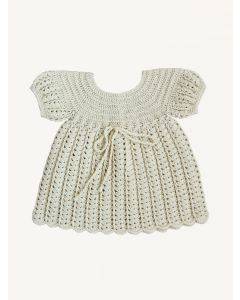 Kalinka milk Polina cotton crochet dress