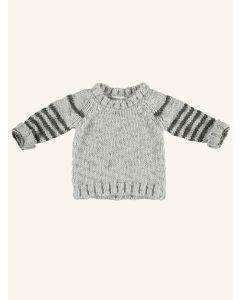 Piupiuchick grey and khaki knitted sweater