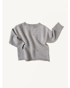 Kids of April grey rainbow speckle cotton jumper