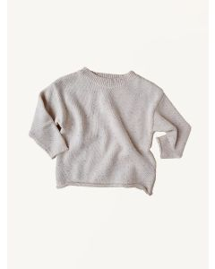 Kids of April natural rainbow speckle cotton jumper