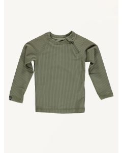 Beach and Bandits ribbed Palm olive green tee