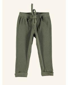 Piupiuchick khaki ribbed cotton leggings