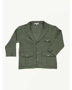 Bebe Organic khaki Safari linen jacket
