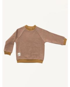 Auntie Me salmon rhino organic cotton sweatshirt