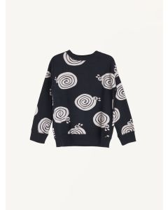 Nadadelazos black snails print organic cotton sweatshirt