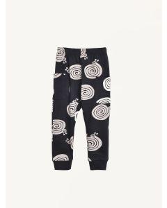 Nadadelazos black snail print organic cotton pants
