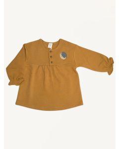 Auntie Me sudan brown Moon organic cotton dress