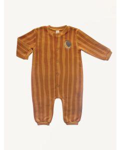 Auntie Me sudan brown stripes organic cotton pajamas