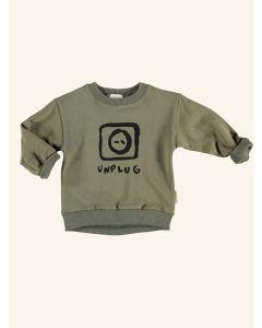 Piupiuchick khaki Unplug cotton sweatshirt
