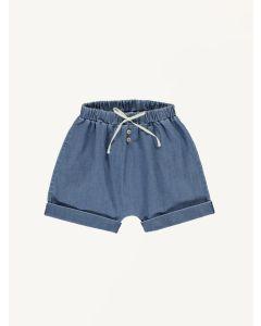 Bebe Organic blue Timo cotton shorts