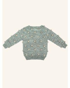 Kalinka water green Viola wool sweater
