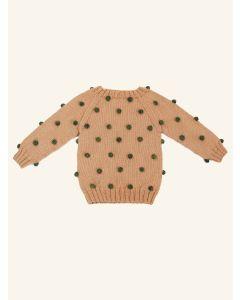 Kalinka Viola peach wool sweater