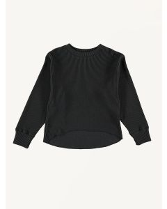 The New Society organic cotton dark grey Waffle sweater