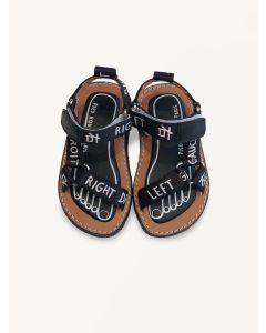 Pied Rougia black Walkie Talkie sandals