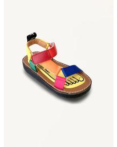Pied Rougia multi Walkie Talkie pop sandals